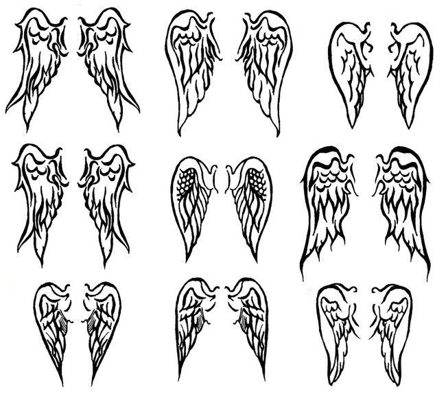 """Soo, I want to get eagle wings for my dad tattooed. Do any of those look """"eagle-y""""? and I want it to be really small where should I get it tatted? would it look stupid if I got it anywhere but my back?"""
