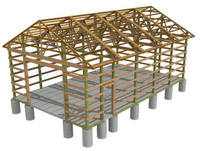 Pole Barn - Build a Wood Floor with Pole Barn Construction