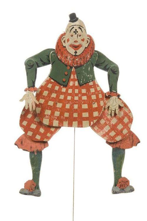 page de jouets anciens sur le thème du cirque
