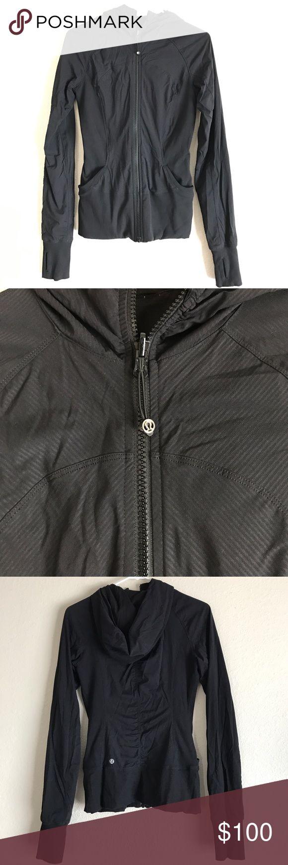 Lululemon In Flux Jacket Black, reversible In Flux jacket! Great condition! First 4 photos are one side the other 4 are the reverse side! lululemon athletica Jackets & Coats