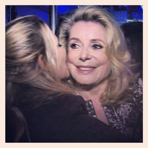 Kissing Catherine Deneuve, yeahhhh !