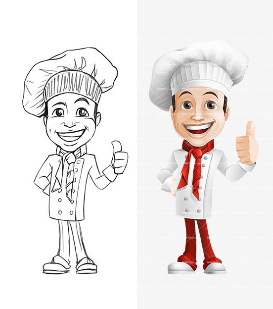 Cartoon Characters Male : Chef cartoon character male characters and