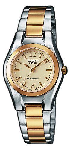 CASIO LTP-1280SG-9AEF - Reloj de mujer de cuarzo, correa de acero inoxidable