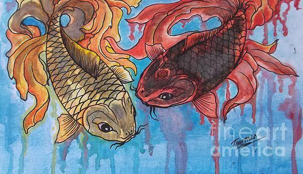 """Watercolor panting""""fish"""""""