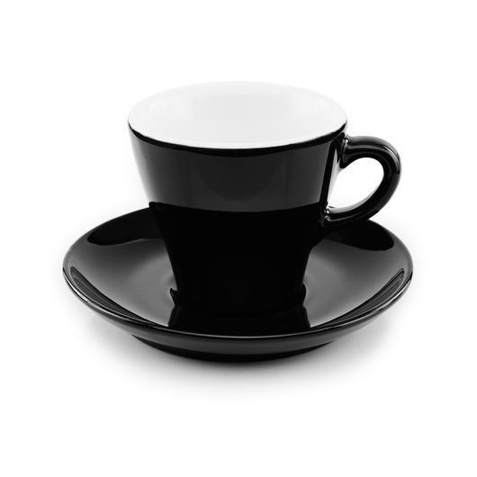 Inker black cappuccino cup 6 oz tulip shape