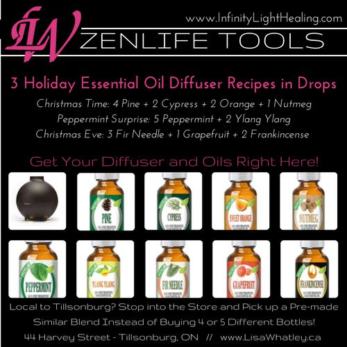 ZenFriends! You know it's all about that ZenLife! 🙌   Here's 3 Holiday Essential Oil Diffuser Recipes for ya!    If you don't have what you need get your diffuser and essential oils here >>> https://goo.gl/wMoi4t