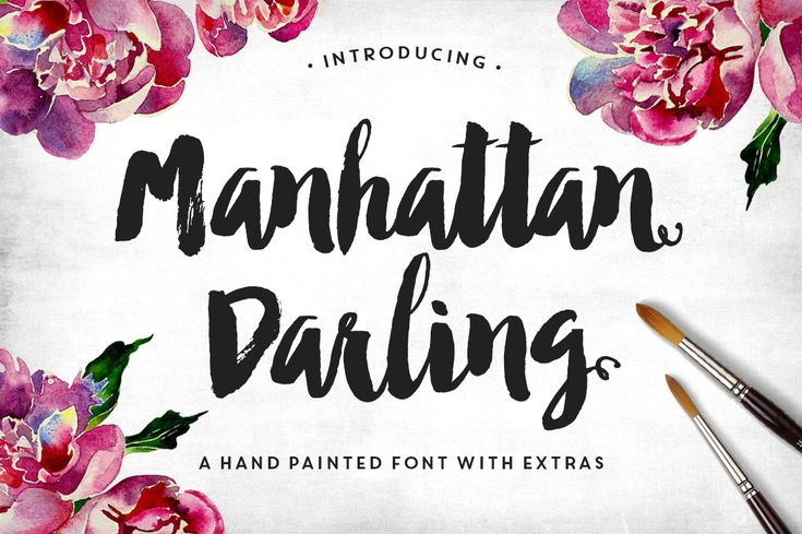 manhattan darling modern brush lettering