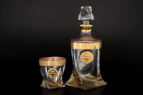 Набор для виски 7 предметов Квадро Версаче Богемия