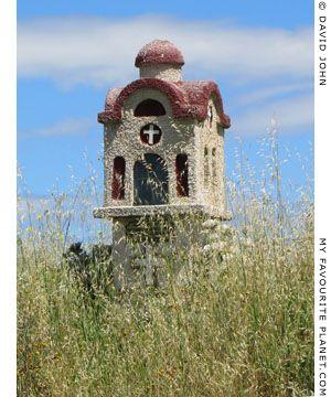 A roadside shrine in Pella, Thessaloniki