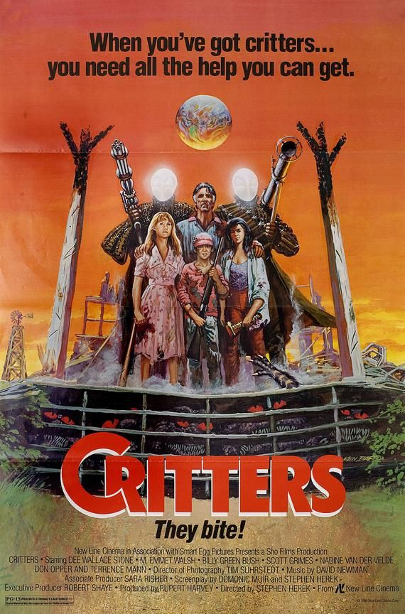 Critters 1986 Vintage U S One Sheet Poster Etsy In 2021 Horror Movie Posters Horror Posters Horror Movies