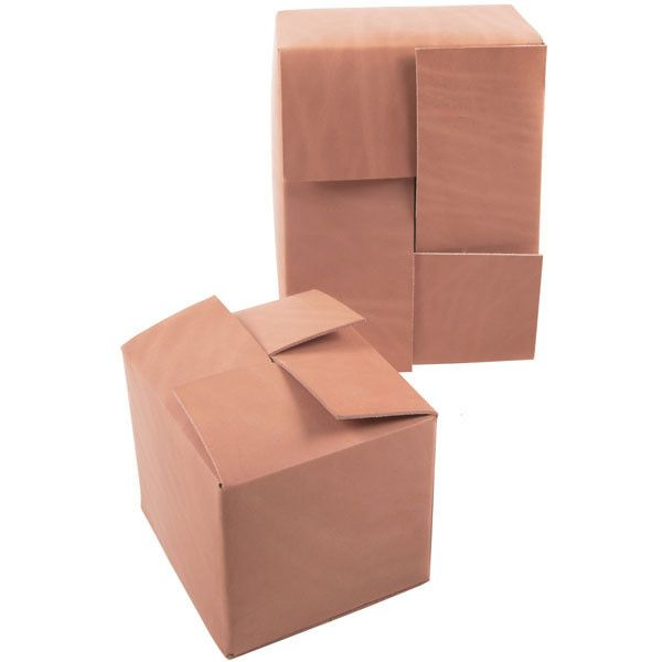 BOXES - a leather clutch bag that looks like a cardboard box. $200-300 depending on size.  Welcome. The emperor has no clothes.