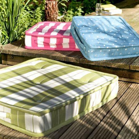 "Clarke & Clarke ""Riviera"" outdoor seat cushions"