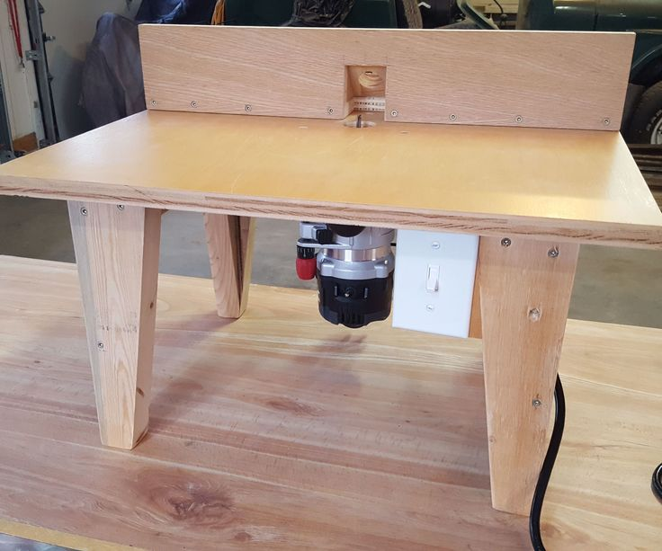 I just bought a new Craftsman router and was wanting a router table to mount it in and decided to build my own.Some of the features I wanted were Adjustable fenceDust CollectionSwitch to control router and vacuumEase of access to router
