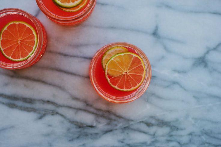 my darling lemon thyme: rhubarb + ginger fizz recipe