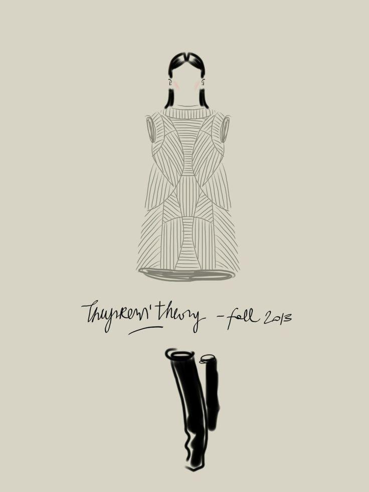 Theyskens' Theory F/W13-14.   #fashion #illustration Open Toe - Opentoeillustration.com