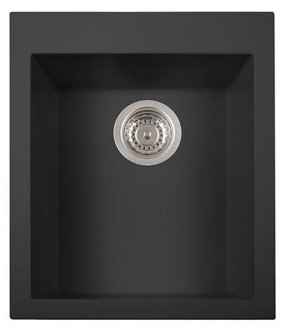 This granite composite sink with a pre-drilled faucet hole in center comes in white, black or biscuit. Made to last and easy to clean.