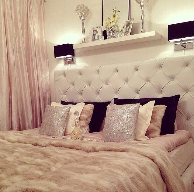 Read More Girly feminine bedroom nude pink bed tufted headboard celebrity  britney spears home house decor ideas black pillows how to decorate bed    My dre55 best Love bedtime  images on Pinterest   Home  Bedrooms and  . Glamorous Bedrooms Tumblr. Home Design Ideas