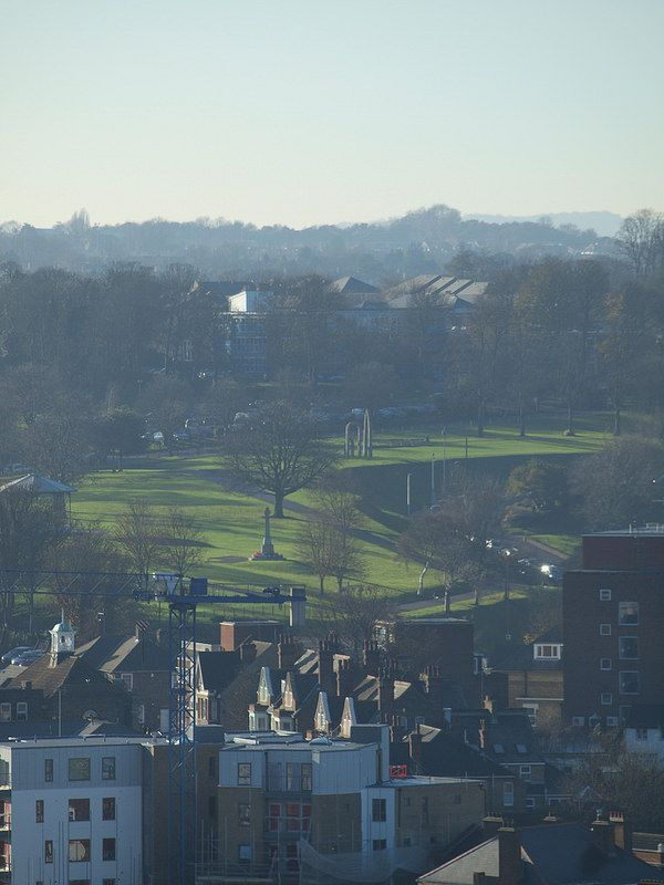 A view across Chatham town centre towards Fort Pitt Hill from Fort Amherst [shared]