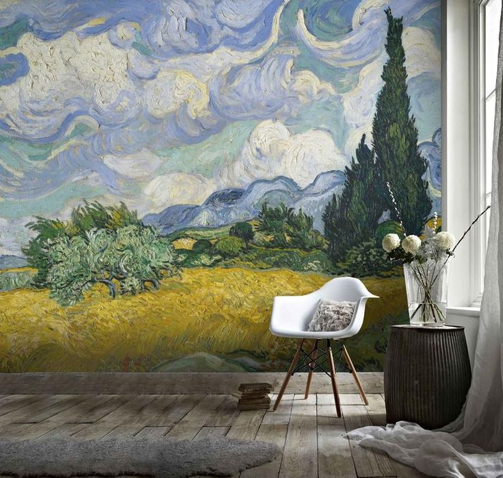 3D Distorted, Abstract, Pastoral Landscape Wallpaper