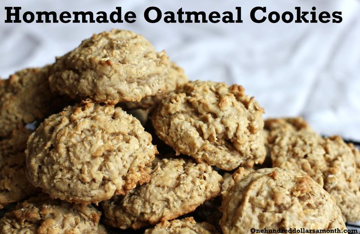 I love making these with dried cranberries and walnuts. recipe homemade oatmeal cookies