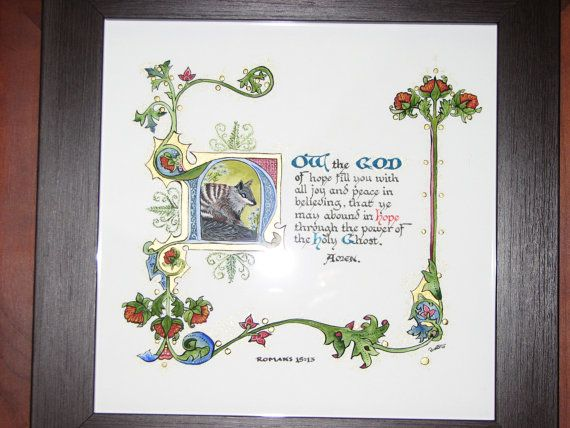 Illuminated Calligraphy Artist Print  Now the God of by angelworx, $35.00