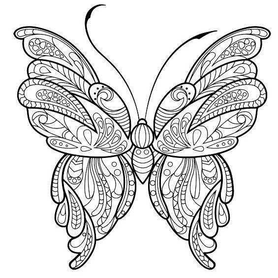 Mandalas Con Mariposas Para Colorear Pintadas Y A Color Mariposas Para Colorear Dibujos Para Colorear Adultos Libro De Colores