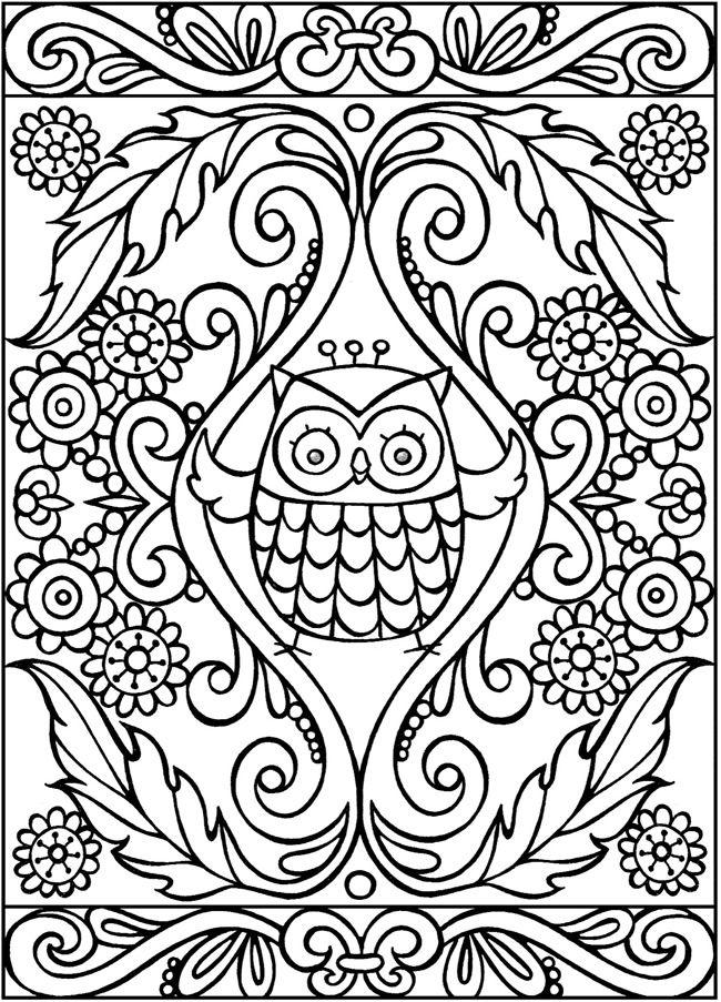 342 best Vogels- Uilen enz images on Pinterest | Coloring books ...