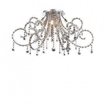 Nowoczesny plafon z serii Fiore - producent Ideal Lux. #Ideal_Lux #Fiore #plafon #nowoczesne_lampy #kryształ #kryształowe_lampy #modne_lampy #lampy_do_salonu #studio_oświetlenia_kraków #lampy_kraków #abanet_kraków