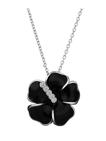 Flower Pattern Rhinestone Crystal Necklace For Women & Jewelry - at Jollychic