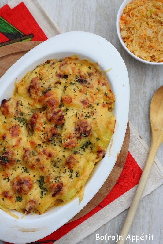 Blog Bo(ro)n Appétit: Zapiekanka ziemniaczana z kiełbasą