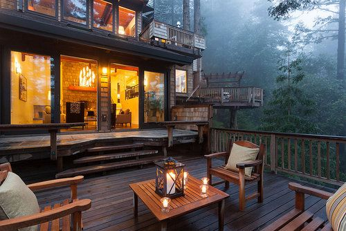 1Dreams Home, Backyards Decks, Outdoor Living, Mountain Living, Outdoor Lounges, Dreams House, Mountain Cabin, Back Porches, Places