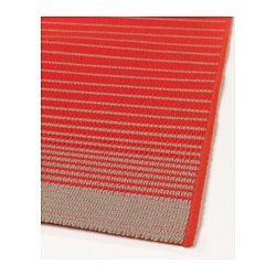 IKEA - MEJLBY, Rug, flatwoven, Ideal in your living room or under your dining table since the flat-woven surface makes it easy to pull out the chairs and vacuum.The rug is perfect for outdoor use since it is made to withstand rain, sun, snow and dirt.If the rug gets wet, you can hang it or stand it upright and it will dry quickly.