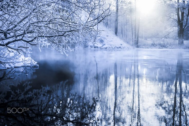 Wirransalmi misty - Sunny winter afternoon.