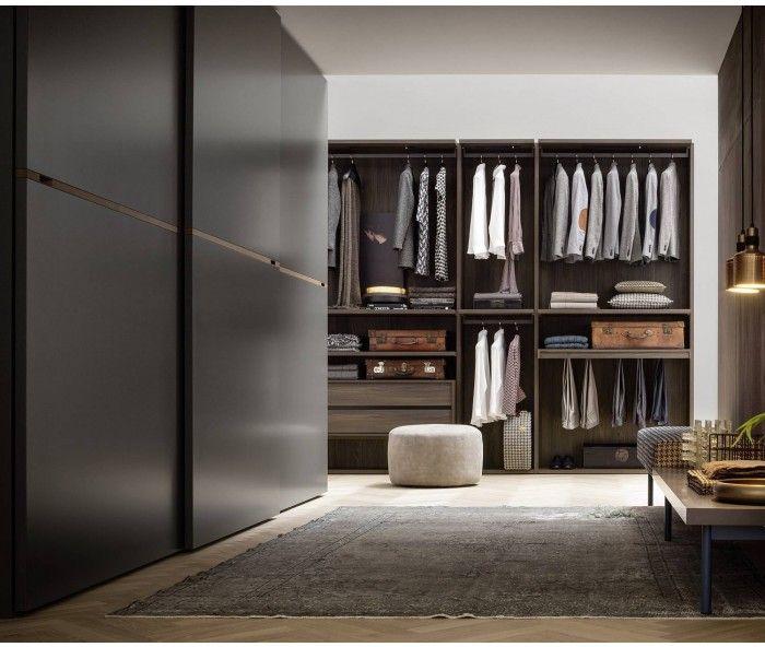 Best Designer Kleiderschrank Middle Schwarz matt