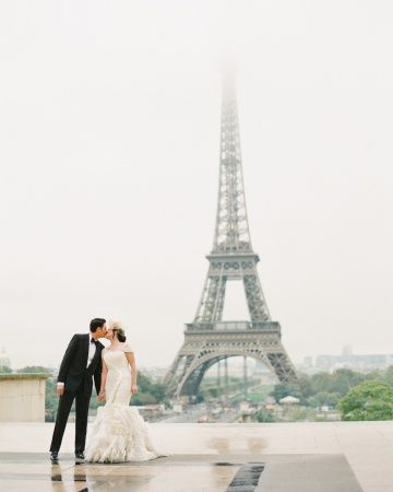 A French-themed destination wedding in Paris   Photography @K T Merry