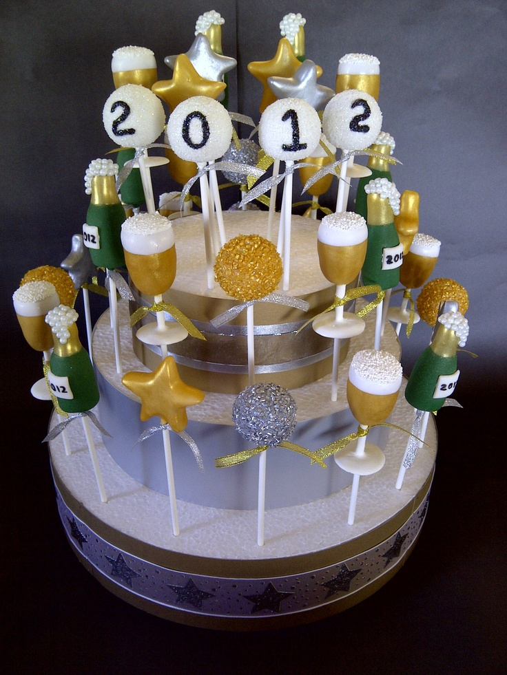 New Year cake pops