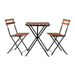 IKEA - TÄRNÖ, Table+2 chairs, outdoor, The chair and the table fold flat and take up less room to store.For added durability, and so you can enjoy the natural expression of the wood, the furniture has been pre-treated with a layer of semi-transparent wood stain.