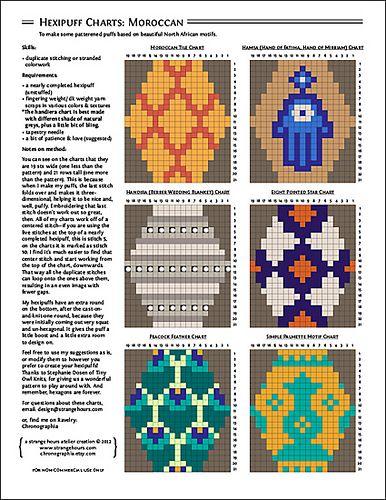 Ravelry: Hexipuff Charts: Moroccan pattern by Jennifer Fabian