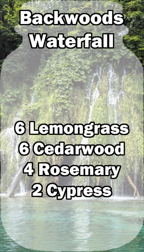 waterfall, essential oil,lemongrass,cedarwood,rosemary, backwoods waterfall #Essentialoildiffusers
