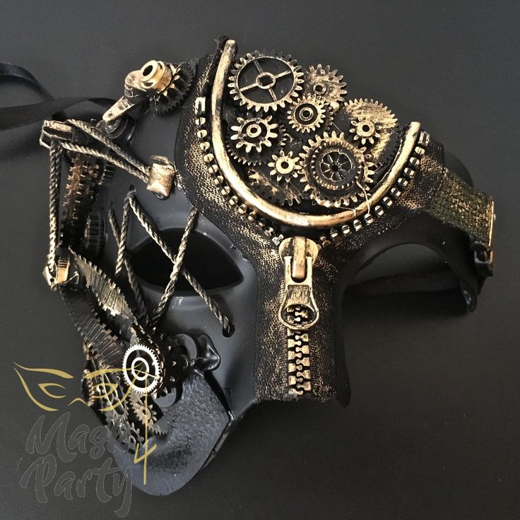 NEW – Steampunk Mask – Maximal Design Phantom – Black/Gold