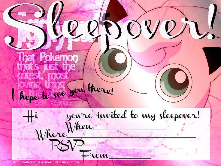 free printable sleepover birthday party invitations - Yelom
