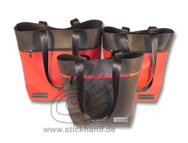 """Tasche - """" City-Bag"""" mit Reißverschlusstasche außen"""
