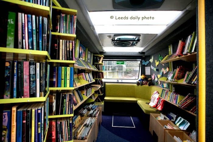 Picture of the inside of the children and family mobile library in Leeds