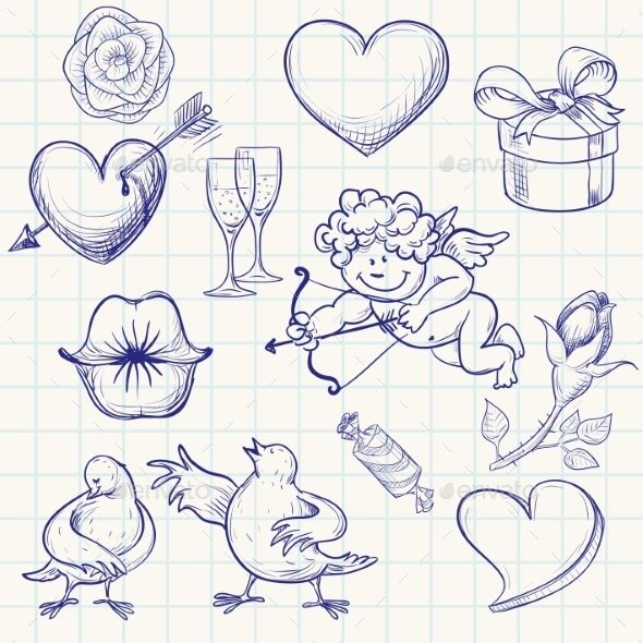 valentines drawing valentine doodles