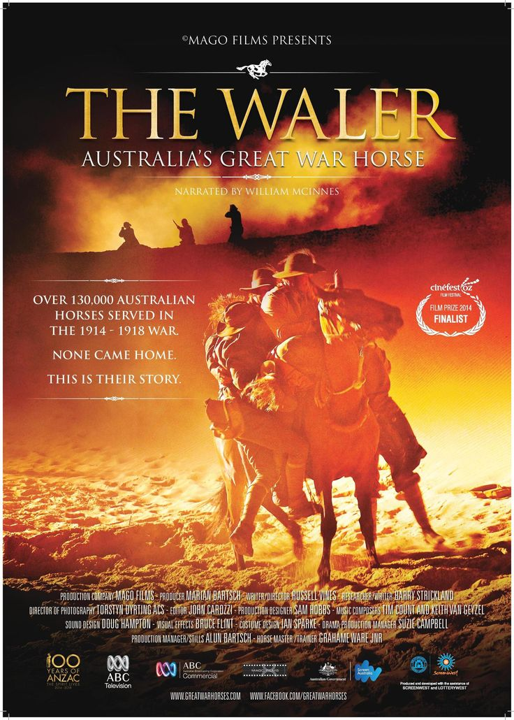 The Waler: Australia's Great War Horse by Marian Bartsch, shortlisted for the Multimedia History Prize, NSW Premier's History Awards, 2016.