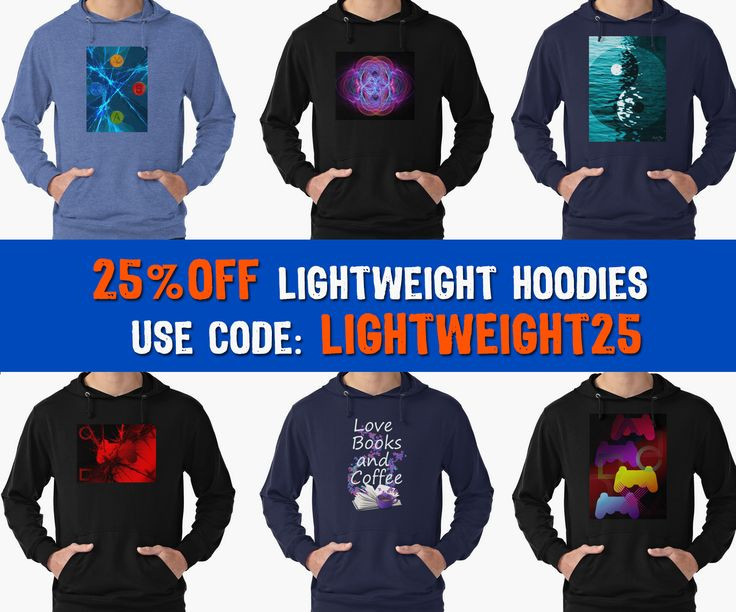 25% off lightweight hoodies by Emily Pigou  Use code: LIGHTWEIGHT25 #hoodies #discount #sales #save #redbubble #giftsforhim #giftsforher #buyhoodies