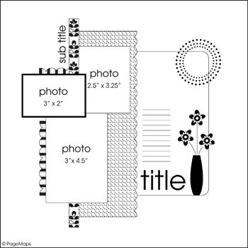 Extrêmement 631 best Scrapbooking Sketches images on Pinterest | Scrapbook  CO05