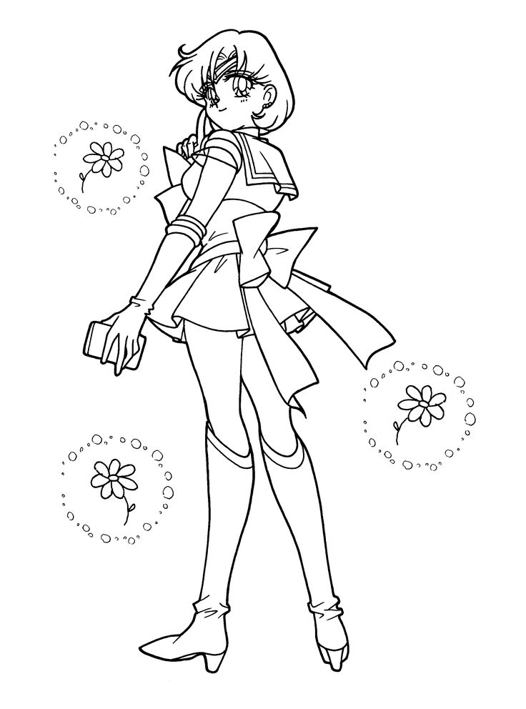 Sailor Mercury Coloring Page Coloring Pages Of Epicness Sailor Mercury Coloring Pages