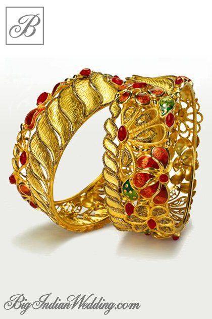 Azva gold bangles