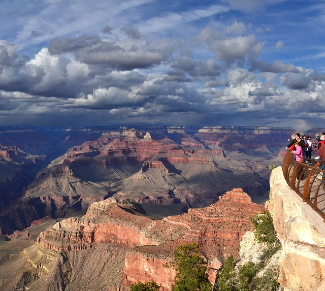 My pictures from the Grand Canyon are almost this good.  Grand Canyon Mather Point Spring Storm 2011_5067a by Grand Canyon NPS, via Flickr